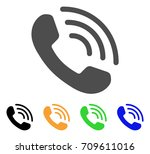 phone ring vector pictograph.... | Shutterstock .eps vector #709611016