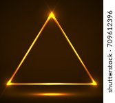 abstract neon triangle with... | Shutterstock .eps vector #709612396