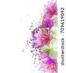 watercolor vector background... | Shutterstock .eps vector #709619092