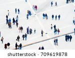 crowd of people at a public... | Shutterstock . vector #709619878