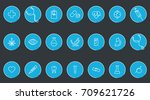medical vector icons. one line... | Shutterstock .eps vector #709621726