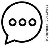 speech bubble vector icon | Shutterstock .eps vector #709624936