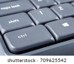 gray keyboard with focus on... | Shutterstock . vector #709625542