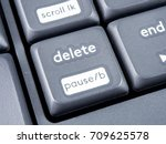 gray keyboard with focus on... | Shutterstock . vector #709625578