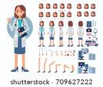 doctor woman character... | Shutterstock .eps vector #709627222