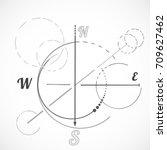 geometry scheme sacred compass...   Shutterstock .eps vector #709627462