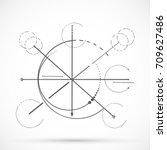 geometry sketch scheme sacred... | Shutterstock .eps vector #709627486