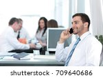 picture of smiling attractive...   Shutterstock . vector #709640686