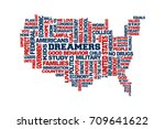 dreamers usa map support... | Shutterstock .eps vector #709641622