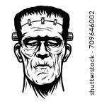 monochrome illustration of... | Shutterstock . vector #709646002
