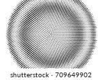 halftone pattern with black dot ... | Shutterstock .eps vector #709649902
