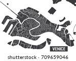 minimalistic venice city map... | Shutterstock .eps vector #709659046