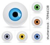 Eye Balls. Vector Illustration...