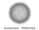 halftone pattern with black dot ... | Shutterstock .eps vector #709661566