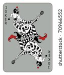 joker playing card  isolated on ... | Shutterstock .eps vector #70966552