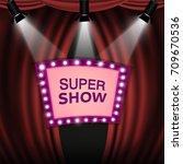 retro light sign cinema and... | Shutterstock .eps vector #709670536