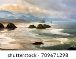 view from ecola state park... | Shutterstock . vector #709671298