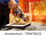 closeup of a hardworker man...   Shutterstock . vector #709678222