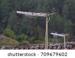 television antenna   Shutterstock . vector #709679602