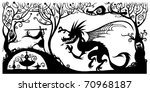 Fantasy Silhouette Illustration.
