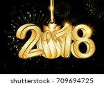 elegant business happy new year ... | Shutterstock . vector #709694725