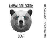 geometric vector animal blue... | Shutterstock .eps vector #709699918