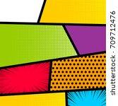 pop art comics book magazine... | Shutterstock .eps vector #709712476