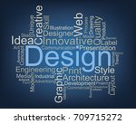 design word cloud  vector | Shutterstock .eps vector #709715272
