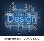 design word cloud  vector   Shutterstock .eps vector #709715272
