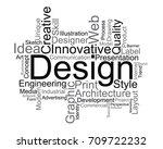 design word cloud  vector | Shutterstock .eps vector #709722232