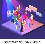 isometric flat 3d isolated... | Shutterstock .eps vector #709728415