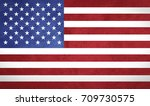 usa flag with grunge texture | Shutterstock . vector #709730575