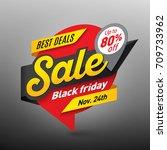 black friday sale banner... | Shutterstock .eps vector #709733962