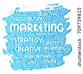 conceptual development business ... | Shutterstock . vector #709739815