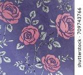 venetian plaster roses | Shutterstock . vector #709743766