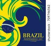 brazil independence day logo... | Shutterstock .eps vector #709746562