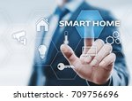 smart home automation control... | Shutterstock . vector #709756696