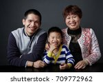 asian family character. shot in ... | Shutterstock . vector #709772962