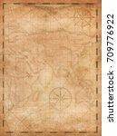 pirates treasure map vertical... | Shutterstock . vector #709776922