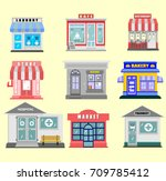 modern fast food restaurant and ... | Shutterstock .eps vector #709785412