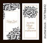 vintage delicate invitation... | Shutterstock .eps vector #709786642
