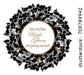romantic invitation. wedding ... | Shutterstock . vector #709789942
