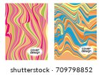 cover layouts collection with... | Shutterstock .eps vector #709798852