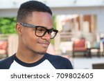 closeup headshot portrait of... | Shutterstock . vector #709802605