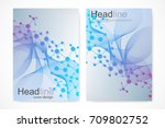 scientific brochure design... | Shutterstock .eps vector #709802752