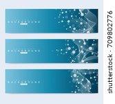 scientific set of modern vector ... | Shutterstock .eps vector #709802776