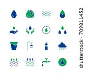 water icon set. collection of... | Shutterstock .eps vector #709811452