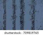 tire traces as a speed concept | Shutterstock .eps vector #709819765