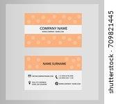 business card hexagon vector | Shutterstock .eps vector #709821445