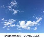 beautiful blue sky with clouds... | Shutterstock . vector #709822666